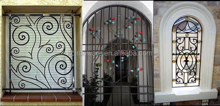 Hebei Manufacturer Decorative Simple Wrought Iron Window