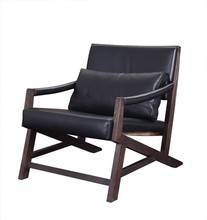 2015 fashionable living room furniture leisure leather wooden armchair