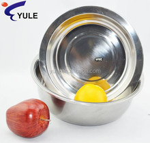 24cm 410# stainless steel food container with embossed lid from China supplier
