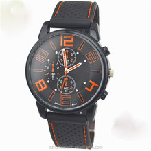 BIG DIAL WATCH FOR MEN leather silicone watch 2015