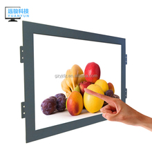 10.4 inch lcd monitor wall mount advertising player open frame USB