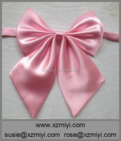 most popular top quality ribbon girls bow tie pink bow tie