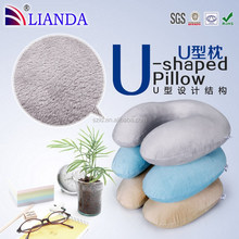 2015 fashion as seen TV free sample u-shape pillow, memory foam neck pillow, travel neck pillow with soft microfiber cover