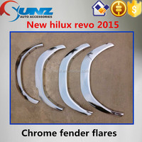 TOYOTA HILUX REVO 2015 car ABS plastic plated wheel arch fender flare chromed 4x4 accessories hilux revo fender