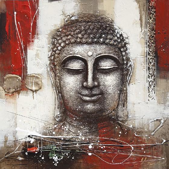 abstrakte moderne leinwand buddha gem lde 41862 malerei kalligraphie produkt id 1533731432. Black Bedroom Furniture Sets. Home Design Ideas