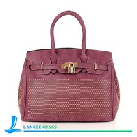 High Quality Water Repellent material Nubuck Leather Lady Bag ladies handbag