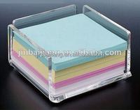 promotional office acrylic memo pad holder JBJ-01