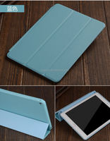 Low price china mobile phone popular folio 3 folding stand leather case leather case for ipad air 2 factory price