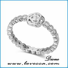 Fine 925 Sterling Silver Jewelry Clear Zircon Ring Elegant Nice Zircon Ring