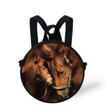 Trendy new 3D animal bag horse print school bag for boys