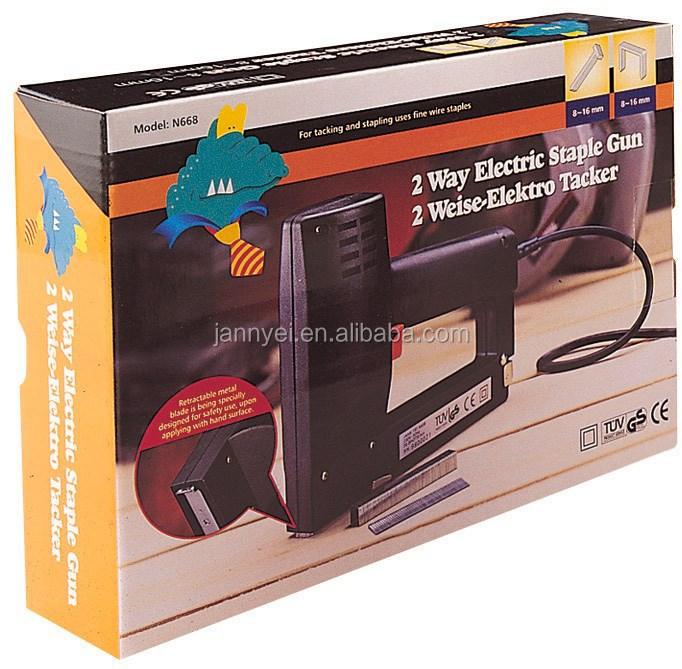 2 maneira grampo elétrica e pistola de pregos, Jt21