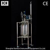 Hot selling 80L Vacuum Jacket Glass Chemical Reactor