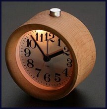 Modern factory direct wooden table am pm clock