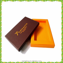 Popular good quality stamping flat packing two pieces paper box