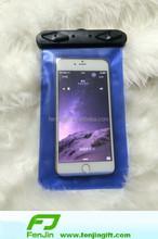 Custom printed mobile phone waterproof bag with lanyard