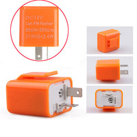 The Best Quality 2 Pin Adjustable LED Flasher Blinker Relay Motorcycle Turn Signal Indicator 12V Orange