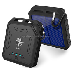 Big 12000mAh battery IP65 Waterproof solar panel portable for Laptop Power Bank