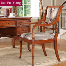 American country style solid wood frame chair with chenille fabric finish for dining AH-208
