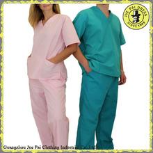Medical Nursing Unisex Scrub Set Top Pants Hospital Clinic Uniform