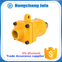 """1"""" aluminium square tube flange connector water rotary joint for heating fumace"""