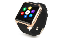 Free Shipping 2015 New Sports Smart wrist watch phone with camera and sim slot