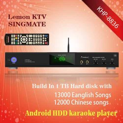 Android home Lemon KTV product with HDMI 1080P ,Select songs via iPhone/Android phone ,songs favorite function