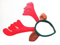 New Christmas Holiday Light Up RED Deer Antlers Head Band Hair Party Costume