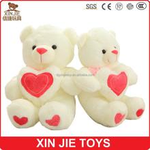 cute valentine's day teddy bear plush toy custom nice design bear stuffed toy for lovers soft plush valentine's day bear toys
