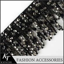 New Brand Diy high quality fabric handmade beading beaded lace trim super embroidery tassel cloth lace sequined