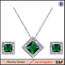 Fine Square Jewelry Set CZ Stone Fashion Fancy Jewelry Wholesale