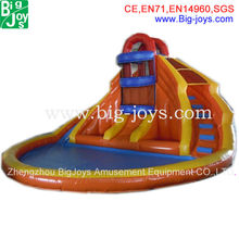 2013 new inflatable water slides with pool, cheap inflatable water slide price, adult size inflatable water slide