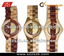 2012 mix color wooden watch bewell sandalwood and maple watches latest wooden watches