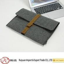 2015 Eco-friendly Anti-shock 13'' grey felt laptop pouch sleeve for promotion