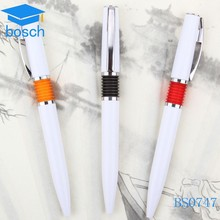 wholesale hot sale color ring plastic ball-point pen advertisement pen