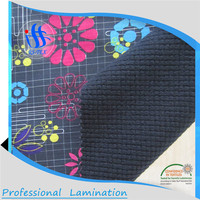 china manufacturer TPU laminated cotton embroidered fabric and high quality textile