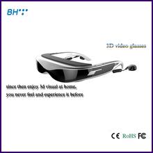 98inch Virtual Display full hd 1080p 3D Video Glasses video glasses 8gb flash/support Max 32gb tf card