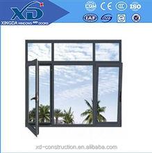fashion new design inward open and fixed glass aluminum window