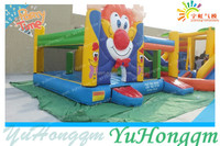 adult jumpers bouncers Outdoor Lawn Big Clown with Slide Combo for Commercial Use