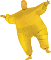 Solid yellow color inflatable mascot costume, inflatable balloons -287113#