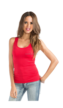 One size seamless underwear knitted lady tank top for women in 20 colors available