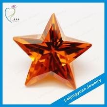 Star shape golden rough diamond jewelry