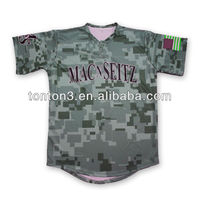 sublimation custom camo baseball jerseys