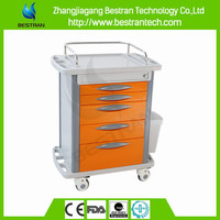 BT-MY008 Best price abs medical emergency trolley with drawer