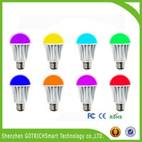 7 Watt Color Changing LED Light Bulb with Remote Control Multi Color LED Bulb and Mood Light