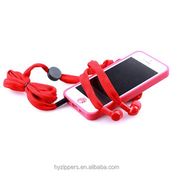2015 new shoelace ear phone mobile phone accessories factory in china