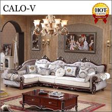 foshan manufacturer luxury corner l shape royal furniture sofa set arab style