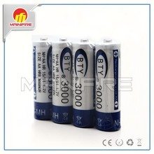 Very Cheap bty aa battery BTY AA 2500mah NiMh battery high quality bty aa 1.2V 14500 rechargeable battery with button top