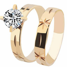 Yiwu Aceon Wholesale Jewelry Fashion Gold Wedding Couple Love Band Rings