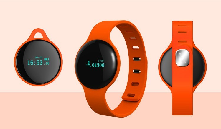 Personal mold!Bluetooth smart bracelet watch above IOS 6 Android4.0 App download Google play Appstore control by Smartphone