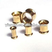 piercing 2012 hot selling,anodized gold saddle double flare flesh tunnel, ear plugs piercing jewelry